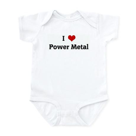 I Love Power Metal Infant Bodysuit