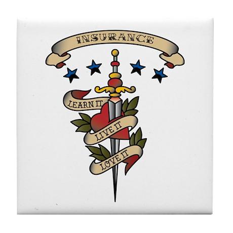 Love Insurance Tile Coaster