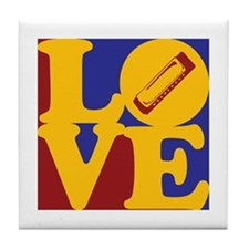 Harmonica Love Tile Coaster