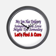 My Son Has Epilepsy Find A Cure Wall Clock