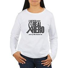 Never Knew A Hero 2 Grey Ribbon Mom T-Shirt