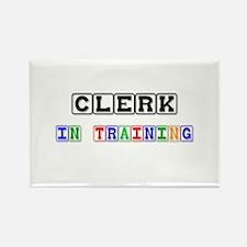 Clerk In Training Rectangle Magnet (10 pack)