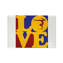 Gymnastics Love Rectangle Magnet (100 pack)