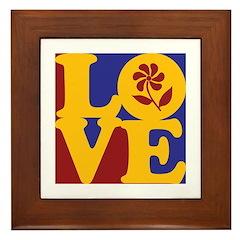 Gardening Love Framed Tile
