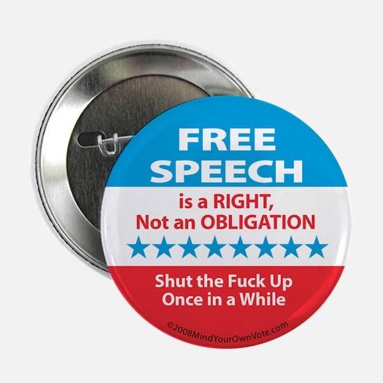 """Free Speech (explicit) 2.25"""" Button"""