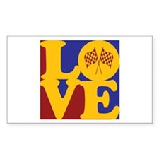 Formula One Love Rectangle Decal
