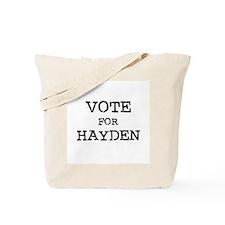 Vote for Hayden Tote Bag