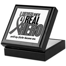 Never Knew A Hero 2 Grey Ribbon Sister Keepsake Bo