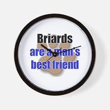 Briards man's best friend Wall Clock