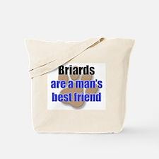 Briards man's best friend Tote Bag