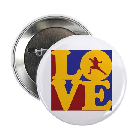 """Fencing Love 2.25"""" Button (10 pack)"""