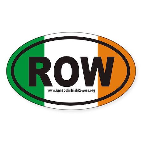 ROW AnnapolisIrishRowers.org Euro Oval Sticker