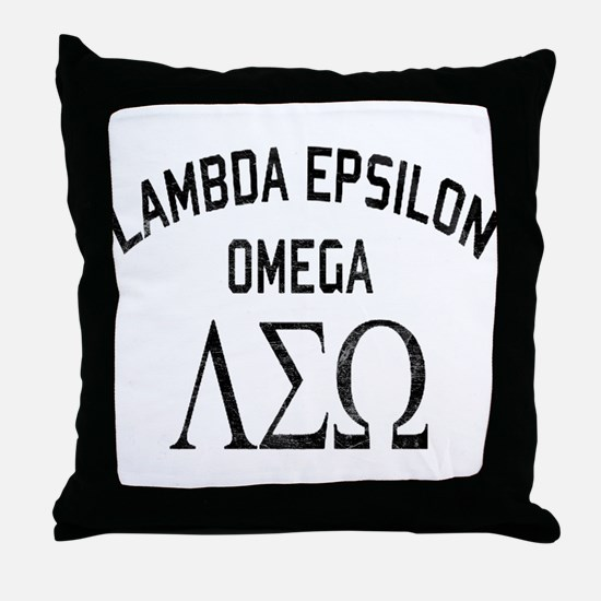 Old School Fraternity Throw Pillow