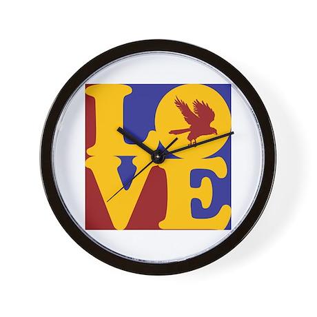 Falconry Love Wall Clock
