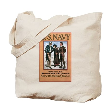 1917 US Navy Poster Tote Bag