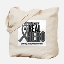 Never Knew A Hero 2 Grey Ribbon Husband Tote Bag