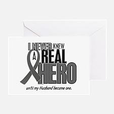 Never Knew A Hero 2 Grey Ribbon Husband Greeting C