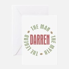Darren Man Myth Legend Greeting Card