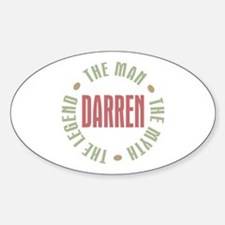 Darren Man Myth Legend Oval Decal