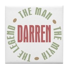 Darren Man Myth Legend Tile Coaster