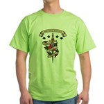 Love Forensic Science Green T-Shirt