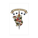 Love Forensic Science Rectangle Sticker 10 pk)