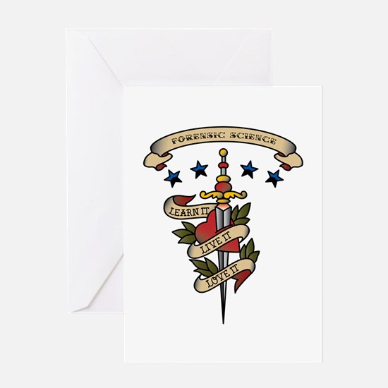 Love Forensic Science Greeting Card