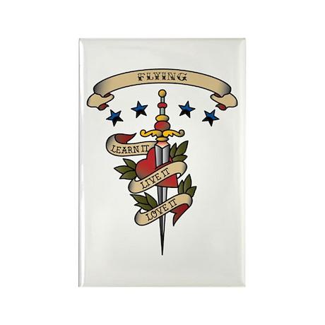 Love Flying Rectangle Magnet (100 pack)