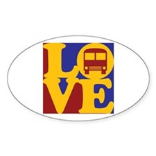 Driving a Bus Love Oval Decal
