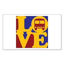 Driving a Bus Love Rectangle Sticker 50 pk)