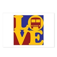 Driving a Bus Love Postcards (Package of 8)