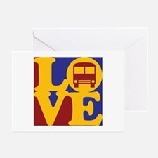 Driving a Bus Love Greeting Card
