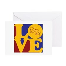 Drama Love Greeting Cards (Pk of 20)
