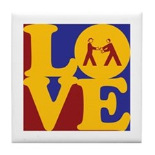 Diplomacy Love Tile Coaster