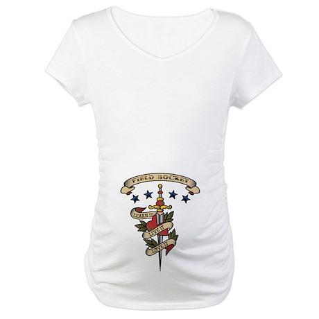 Love Field Hockey Maternity T-Shirt