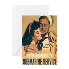 US Navy Submarine Greeting Card