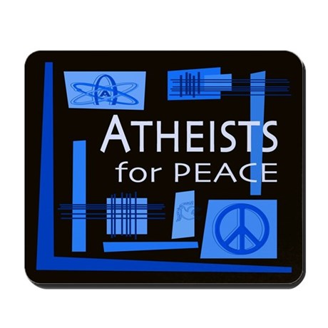 Atheists for Peace Dark Mousepad