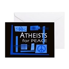 Atheists for Peace Dark Greeting Card