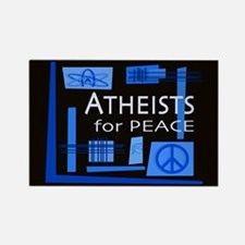 Atheists for Peace Dark Rectangle Magnet