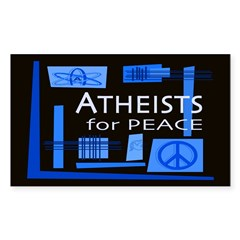 Atheists for Peace Dark Rectangle Sticker 10 pk)