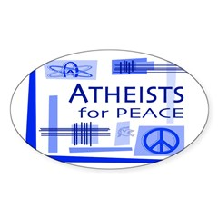 Atheists for Peace Oval Sticker (50 pk)