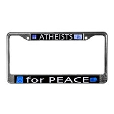 Atheists for Peace Dark License Plate Frame