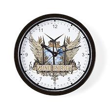 North Dakota Wind Energy Wall Clock