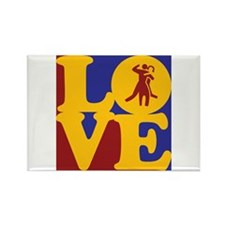 Dance Love Rectangle Magnet