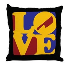 Cutting Meat Love Throw Pillow