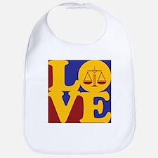 Criminal Justice Love Bib