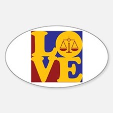 Criminal Justice Love Oval Decal