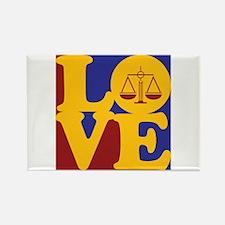 Criminal Justice Love Rectangle Magnet
