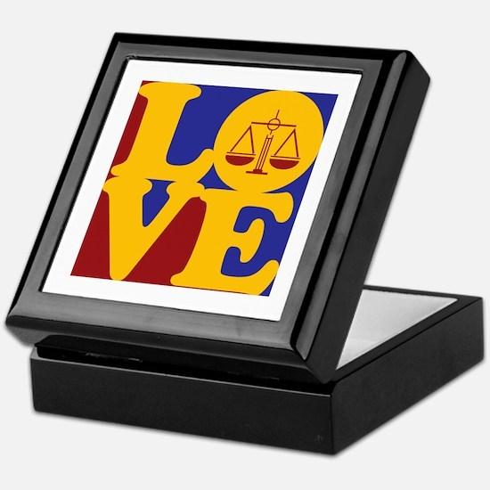 Criminal Justice Love Keepsake Box