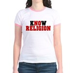 kNOw Religion Jr Ringer T-Shirt